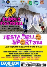 Torneo di Bubble Football a Campi Salentina